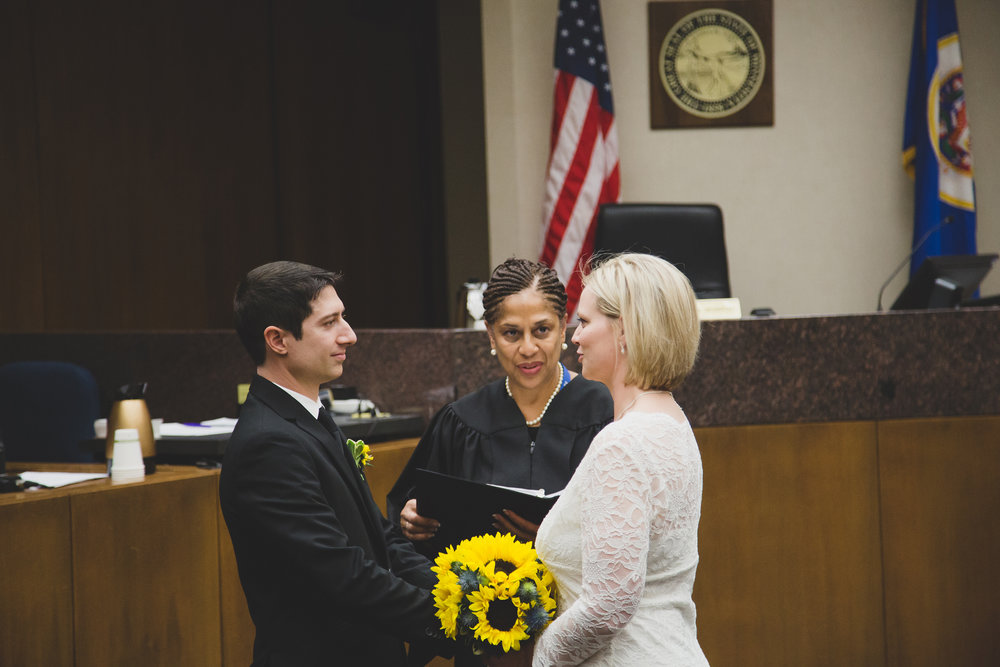 Minneapolis Courthouse Elopement_Sarah and Chris_Travel Photographer_Minneapolis Wedding_Hennepin County Courthouse Wedding_Washington Photographer_Destination Photographer_Wedding Day_Courthouse Wedding_Bride and Groom_Yellow Flowers_Tri Cities Washington Wedding Photographer_45
