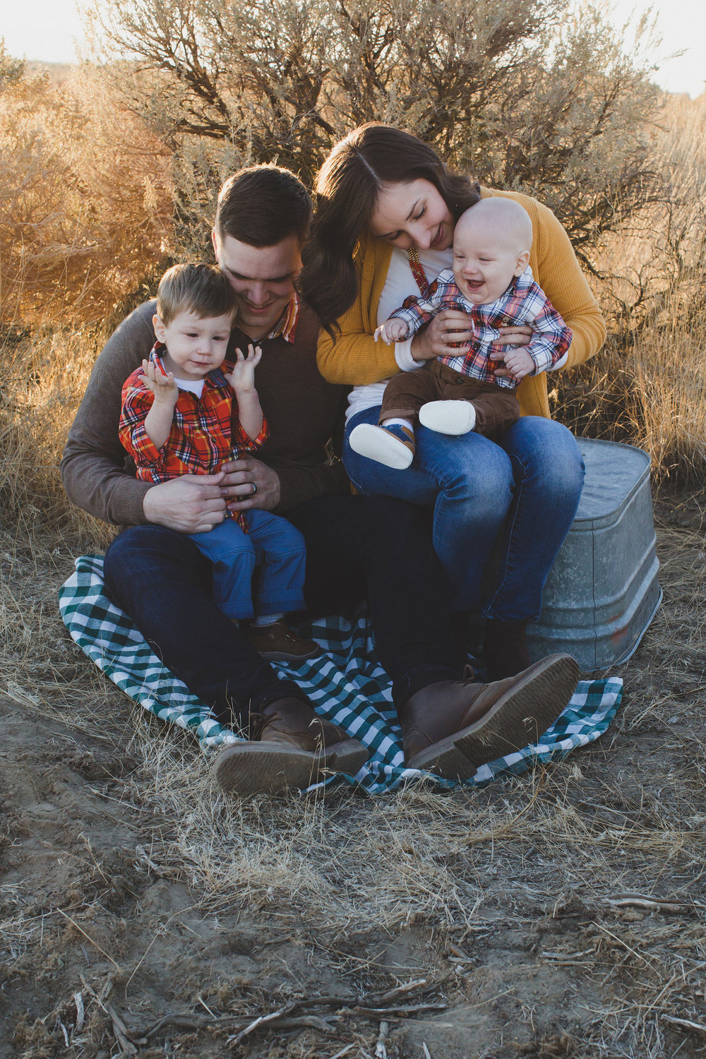 Tri Cities Washington family session_Wynne family_Candy Mountain West Richland_Family of four_Boy mom_Family photos_Fall family photos_fall outfits_OOTD_sage brush_Desert family session_sunset session_14