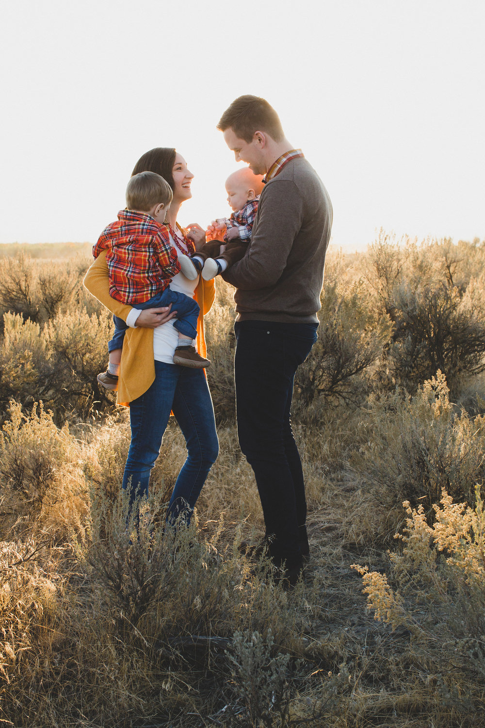 Tri Cities Washington family session_Wynne family_Candy Mountain West Richland_Family of four_Boy mom_Family photos_Fall family photos_fall outfits_OOTD_sage brush_Desert family session_sunset session_20