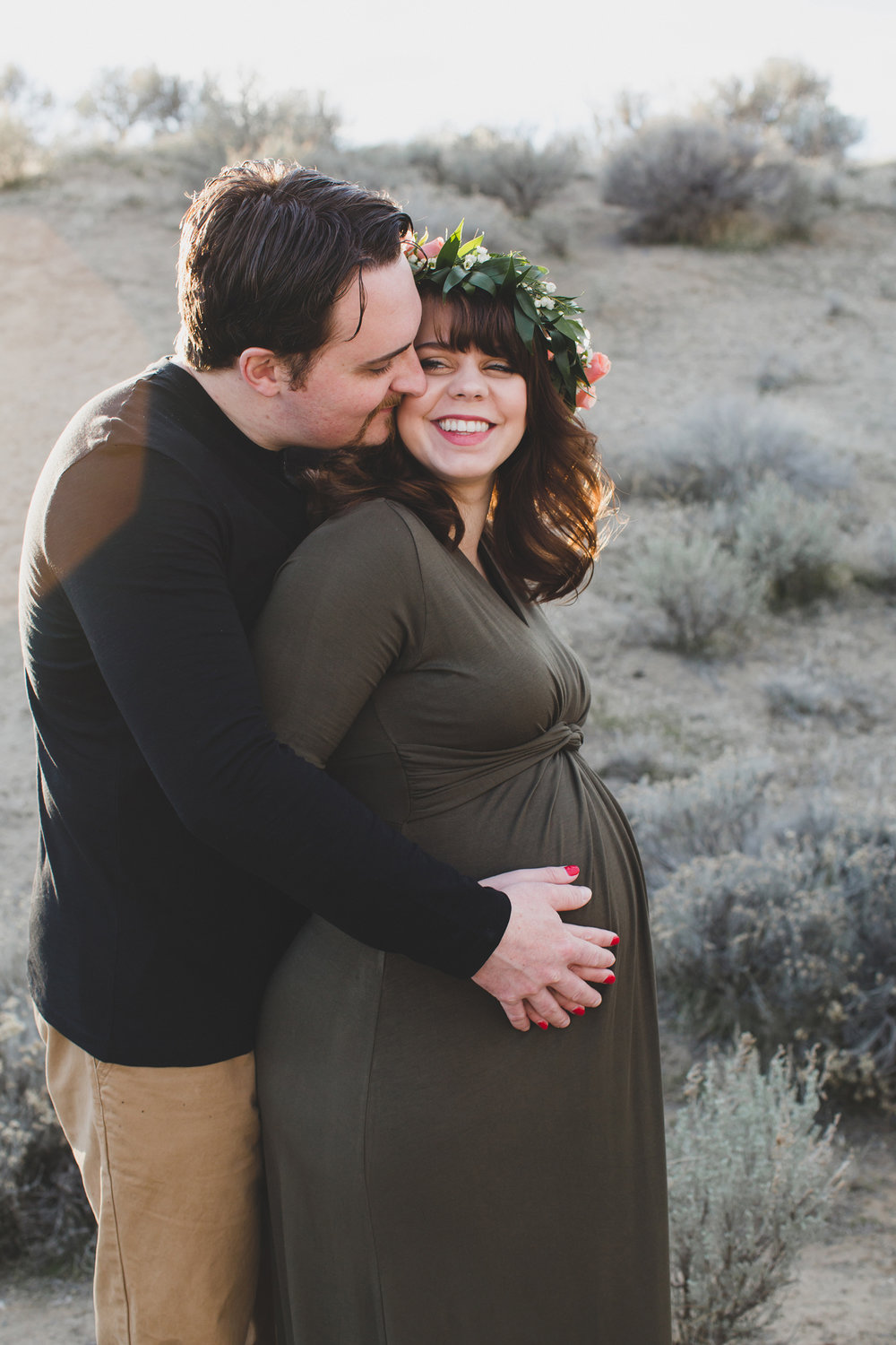 Tri Cities Maternity photographer_tri cities maternity_richland photographer_kennewick photographer_maternity session_red mountain_mama to be_parents to be_tri cities family session_red mountain trails_sage brush_horse_desert session_sunset session_3
