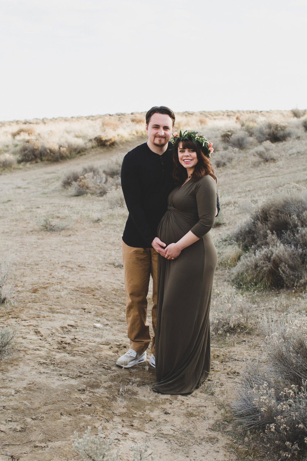 Tri Cities Maternity photographer_tri cities maternity_richland photographer_kennewick photographer_maternity session_red mountain_mama to be_parents to be_tri cities family session_red mountain trails_sage brush_horse_desert session_sunset session_6