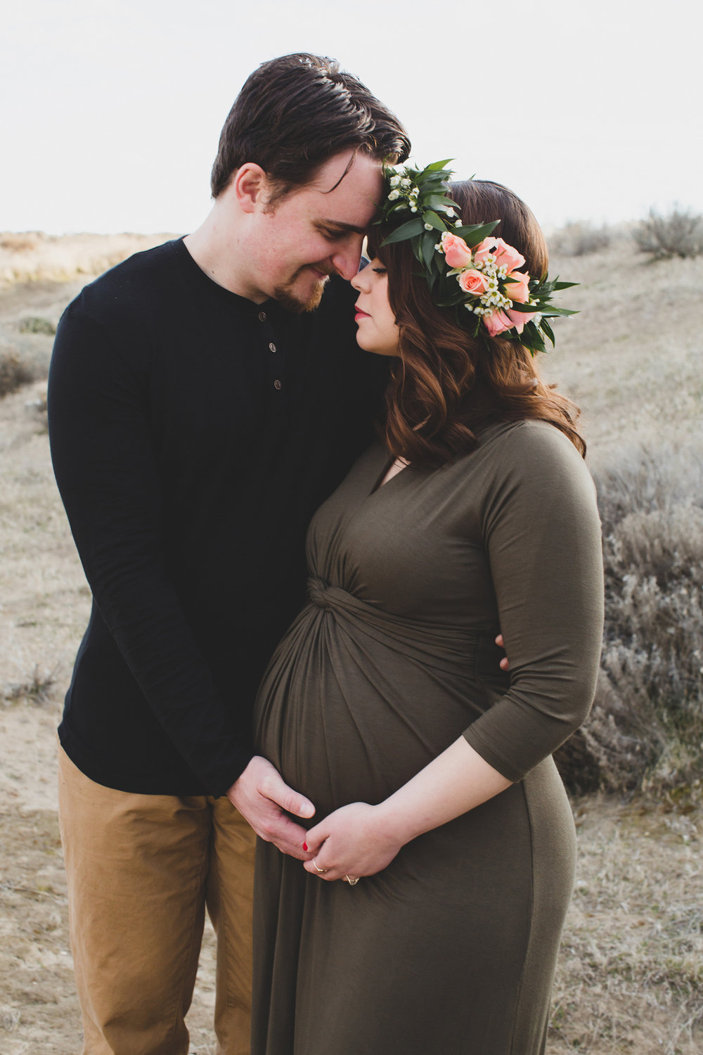 Tri Cities Maternity photographer_tri cities maternity_richland photographer_kennewick photographer_maternity session_red mountain_mama to be_parents to be_tri cities family session_red mountain trails_sage brush_horse_desert session_sunset session_7