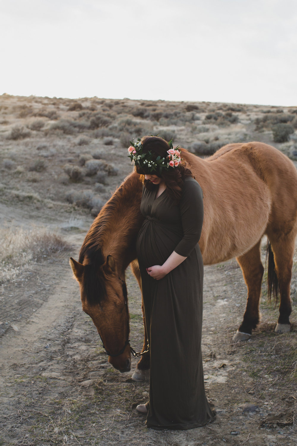 Tri Cities Maternity photographer_tri cities maternity_richland photographer_kennewick photographer_maternity session_red mountain_mama to be_parents to be_tri cities family session_red mountain trails_sage brush_horse_desert session_sunset session_17