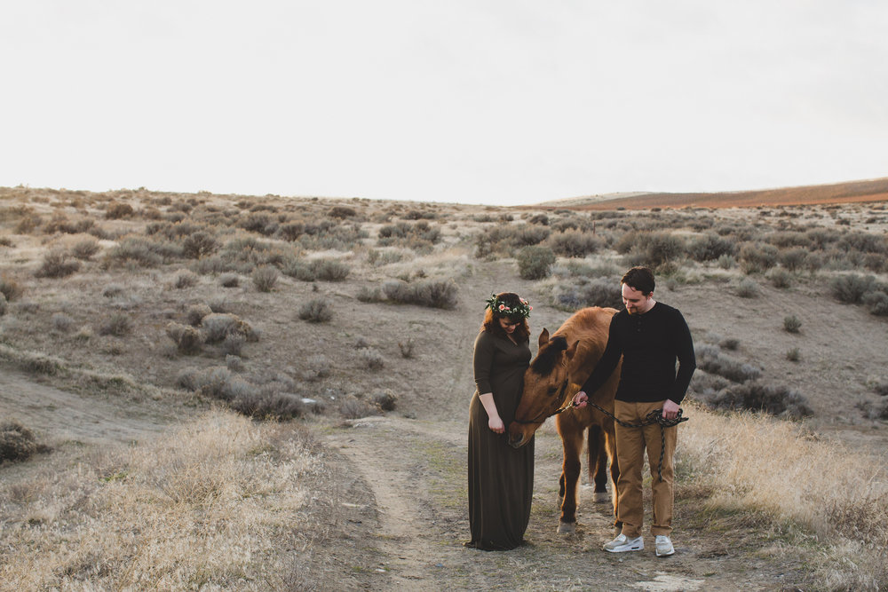 Tri Cities Maternity photographer_tri cities maternity_richland photographer_kennewick photographer_maternity session_red mountain_mama to be_parents to be_tri cities family session_red mountain trails_sage brush_horse_desert session_sunset session_20