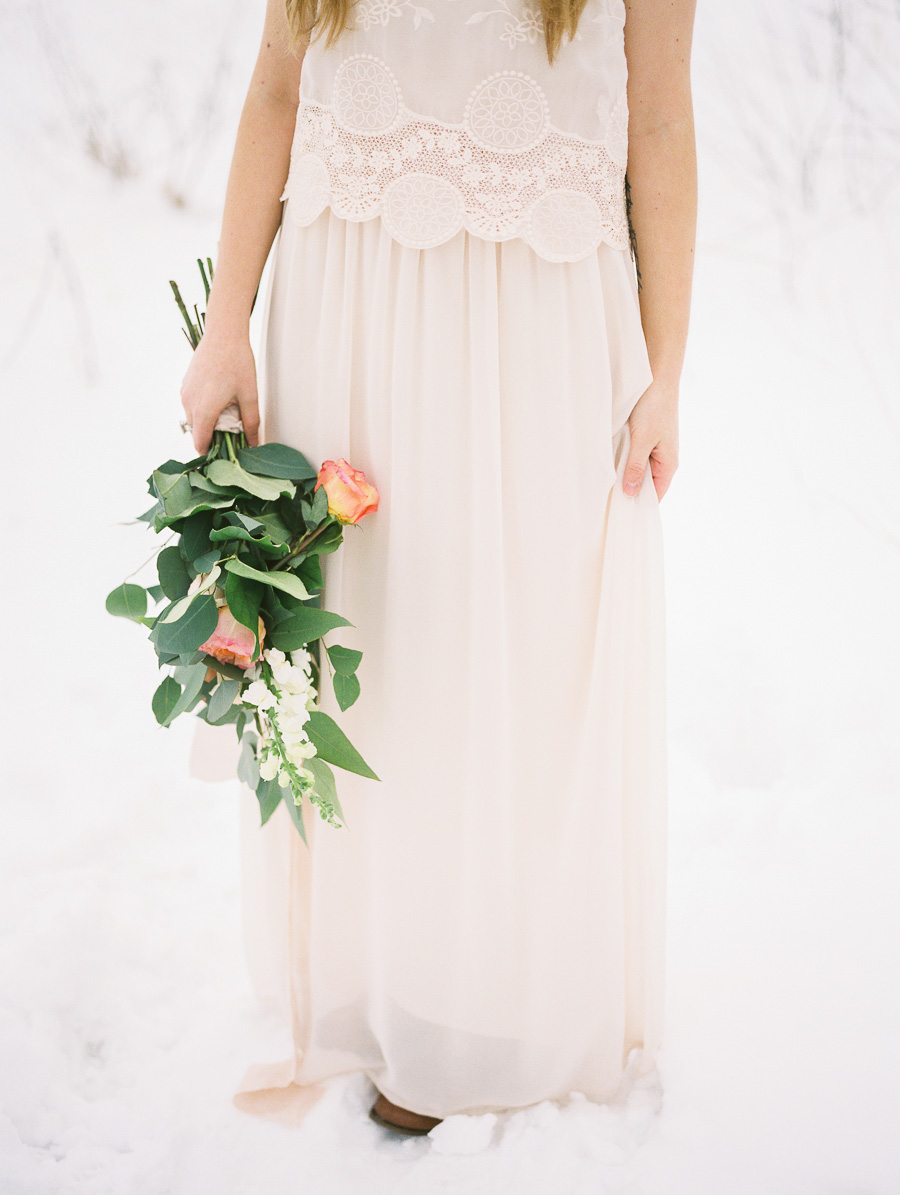blush winter wedding inspiration winnipeg wedding photographer