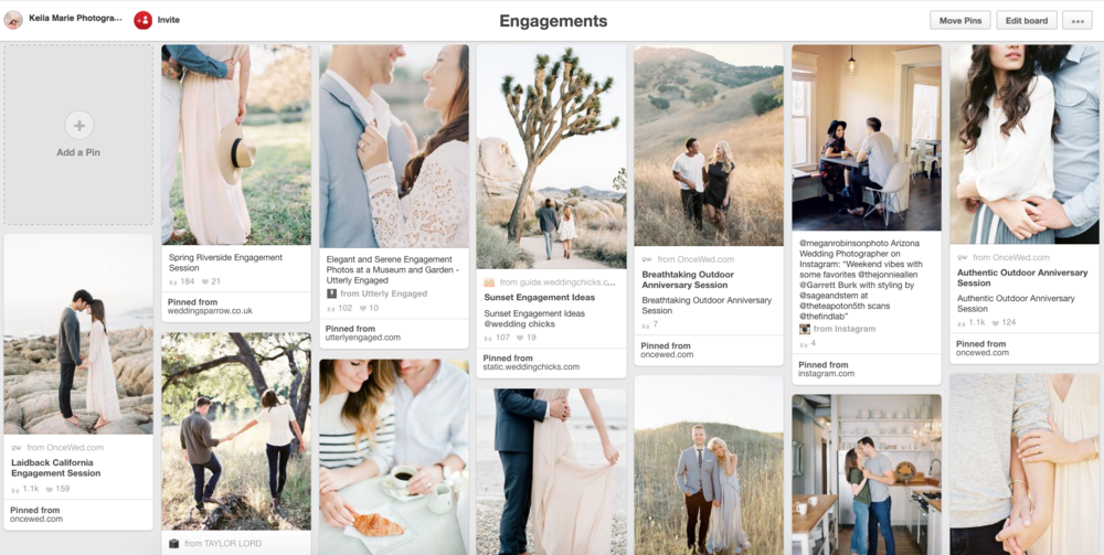 Engagement Session Ideas Pinterest board - Keila Marie Photography