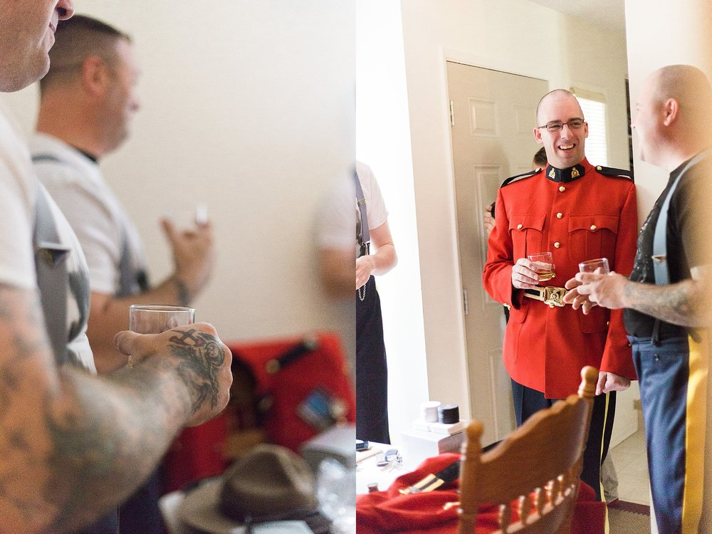 RCMP Wedding - Winnipeg Wedding Photographer - Groomsmen getting ready photos - Keila Marie Photography