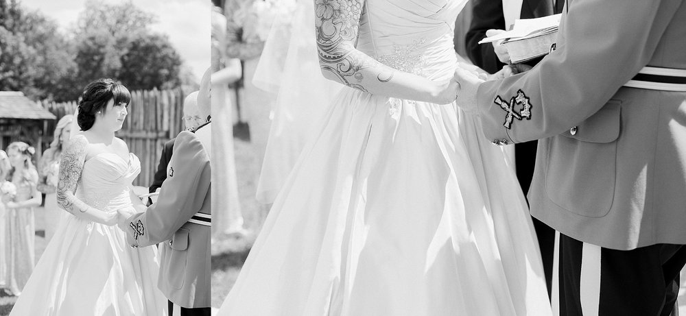 RCMP Wedding - Winnipeg Wedding Photographer - Outdoor ceremony - Keila Marie Photography