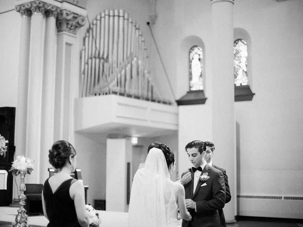 Classic cathedral church ceremony | photographed by Toronto Ontario Wedding Photographer Keila Marie Photography