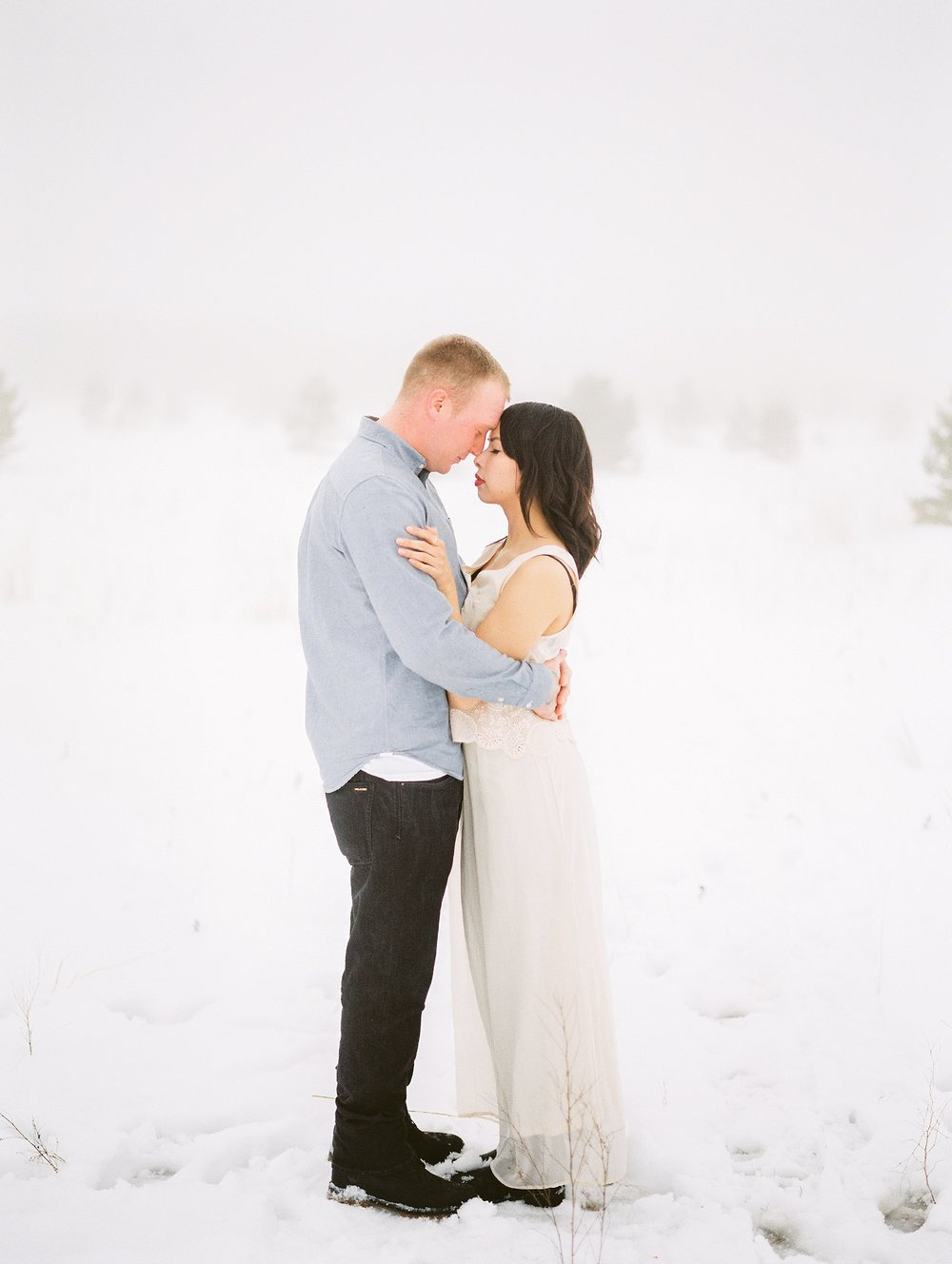Couples photoshoot winter outfit ideas | Engagement session in the Canadian winter | fine art film photography Keila Marie Photography