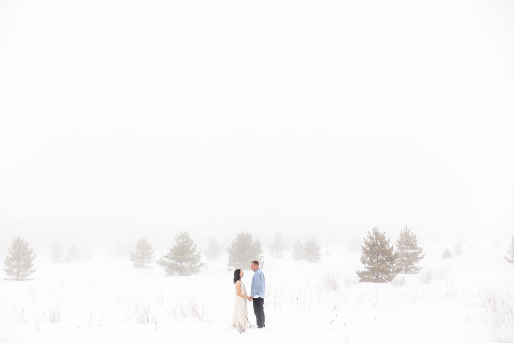 Winter Couples Session | Romantic Engagement Session | photographed by Film photographer Keila Marie Photography