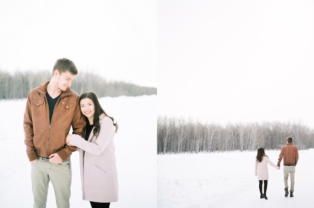 Winter Couples Session - Couples session photoshoot ideas - photographed by Winnipeg wedding photographer Keila Marie Photography