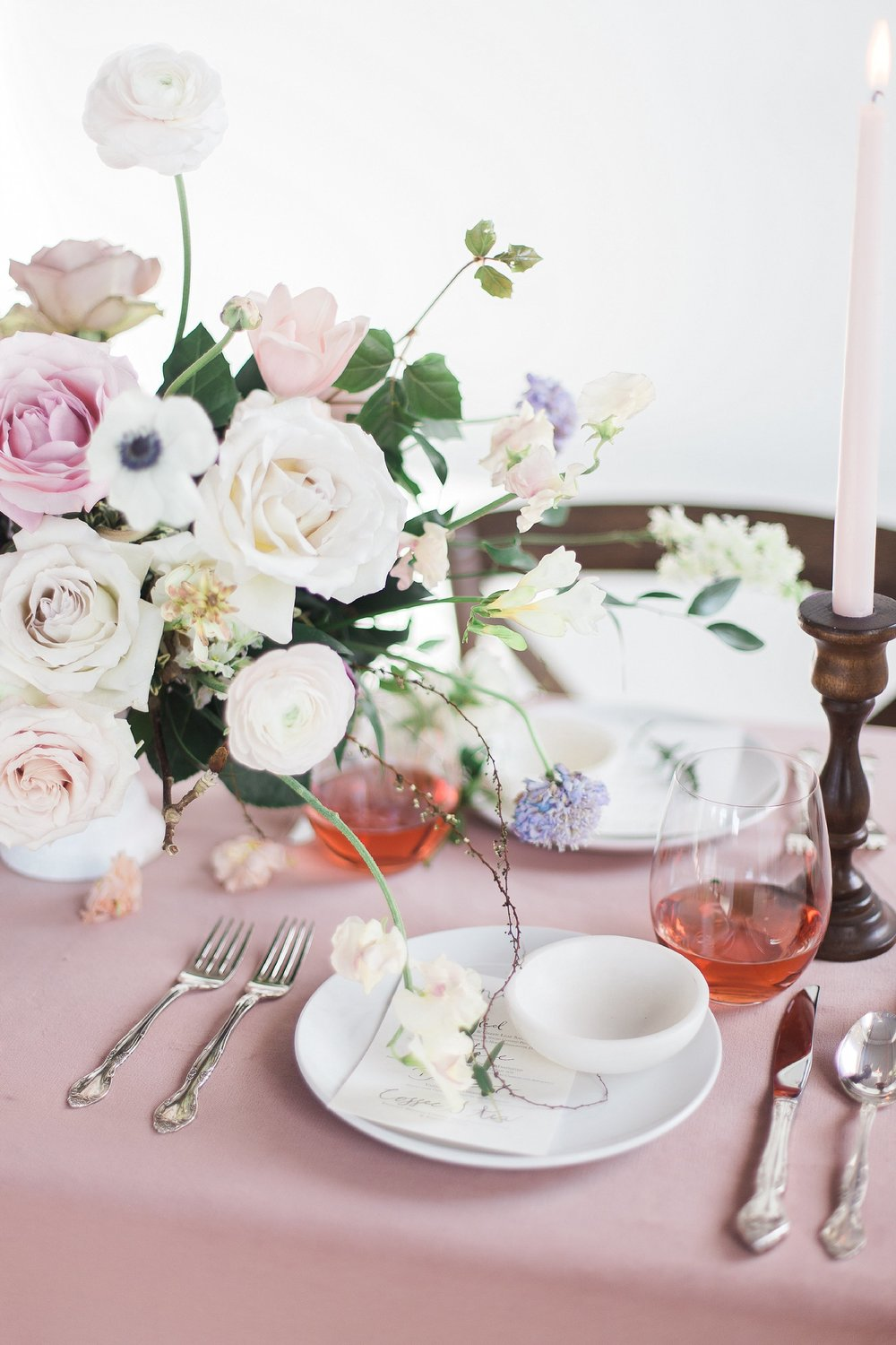 Winnipeg Wedding Photographer Keila Marie Photography | Academy Florist styled shoot | Spring Blush Pink Wedding Theme Table