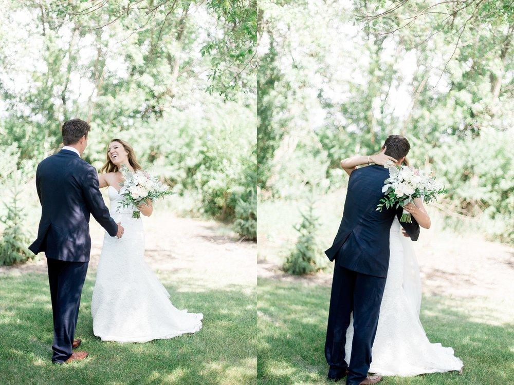 Keila Marie Photography Winnipeg Wedding Photographer | First look photos