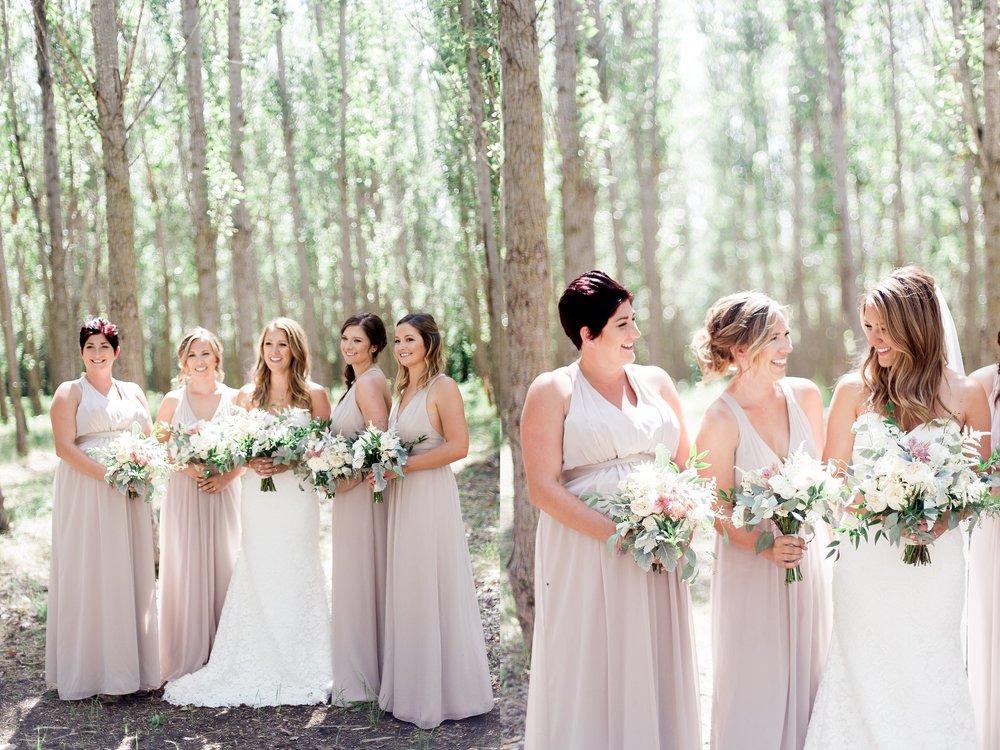 Vancouver Wedding Photographer film photographer Keila Marie Photography | Bridesmaids photos | bridesmaid blush dresses