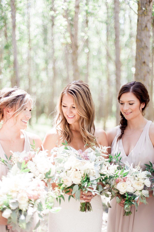 Winnipeg Wedding Photographer film photographer Keila Marie Photography | Bridesmaids photos | bridesmaid blush dresses