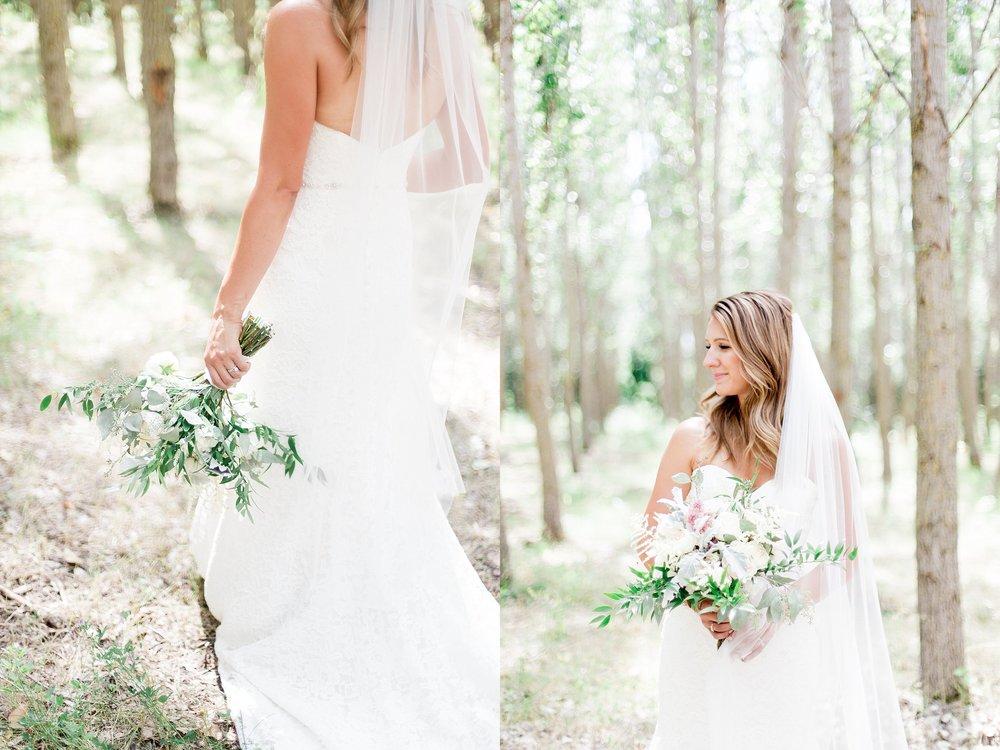 Winnipeg Wedding Photographer Keila Marie Photography | Bridal portraits | Garden inspired wedding