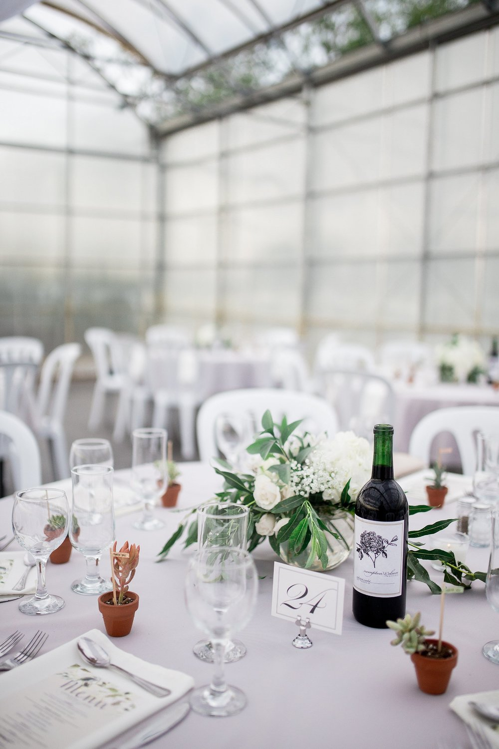 Greenhouse wedding reception | Reception ideas | Keila Marie Photography | Vancouver Wedding Photographer
