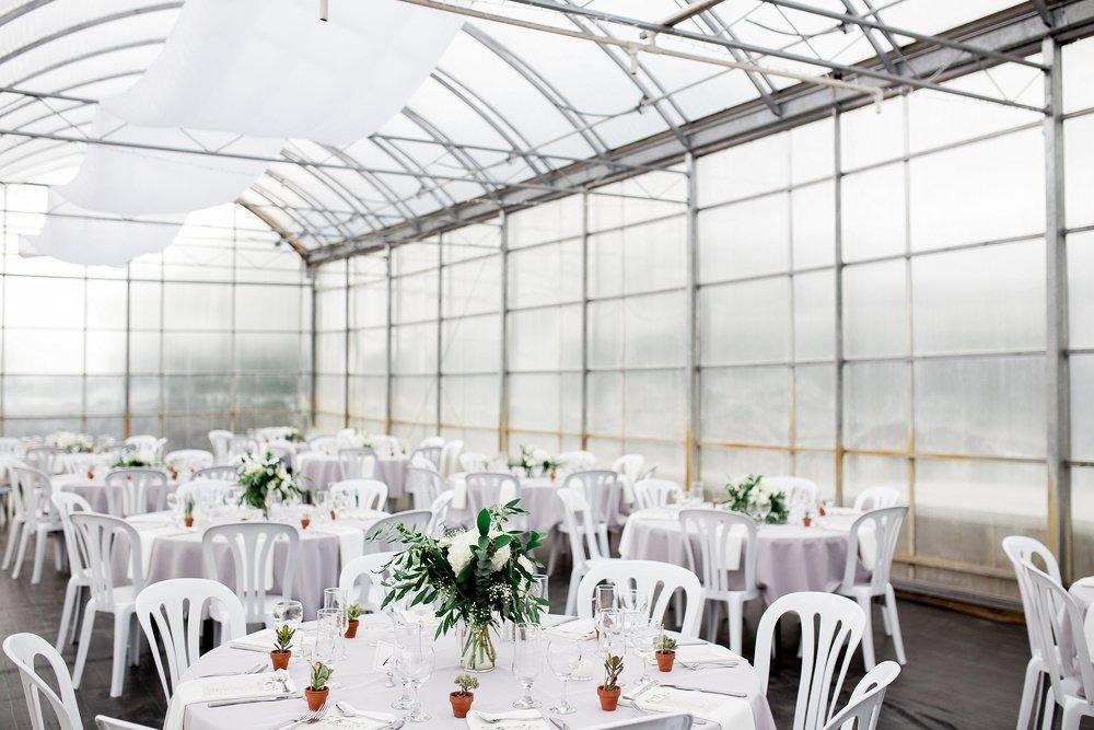 Greenhouse wedding reception | Reception ideas | Keila Marie Photography | Winnipeg Wedding Photographer