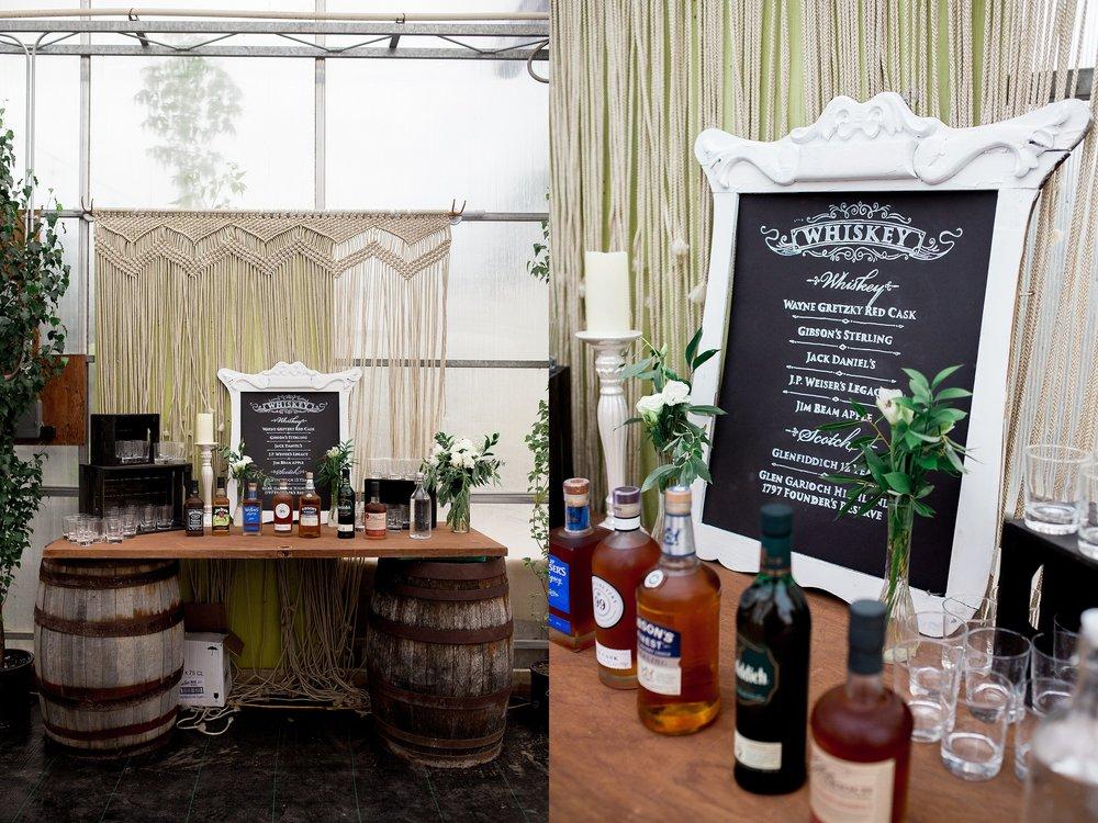 Greenhouse wedding reception | Reception decor ideas | Keila Marie Photography | Manitoba Wedding Photographer