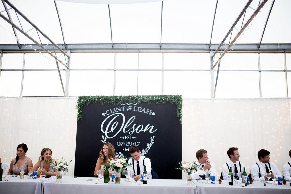Greenhouse wedding reception |Keila Marie Photography | Winnipeg Wedding Photographer