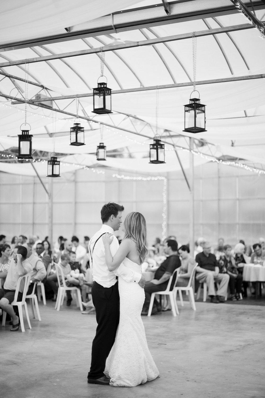 Greenhouse wedding reception |Keila Marie Photography | first dance photos | Winnipeg Wedding Photographer