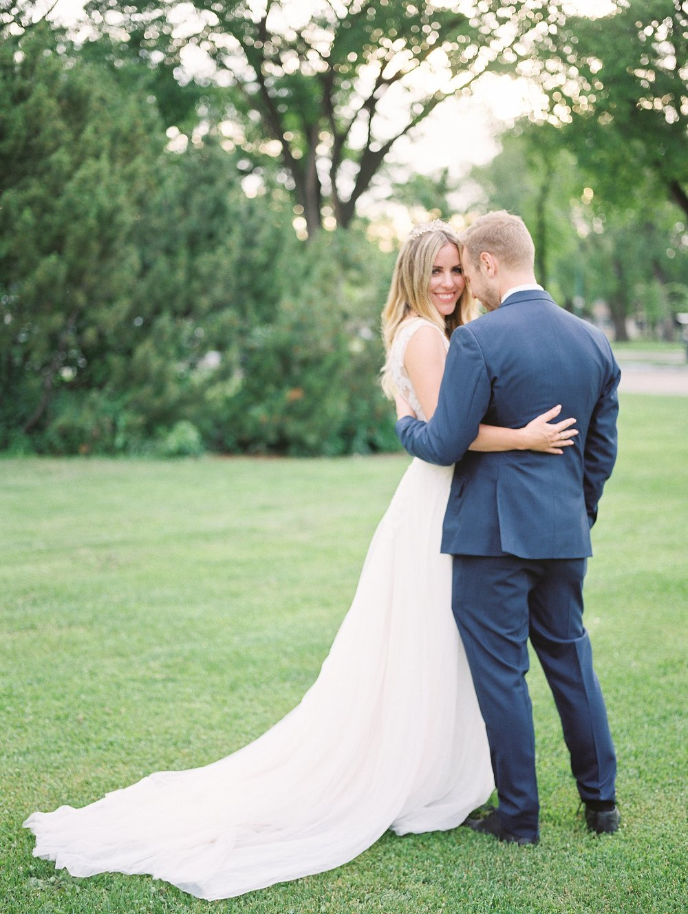 Winnipeg Wedding Photographer | Floravere Wedding Dress | Photo by Winnipeg Film Photographer Keila Marie Photography