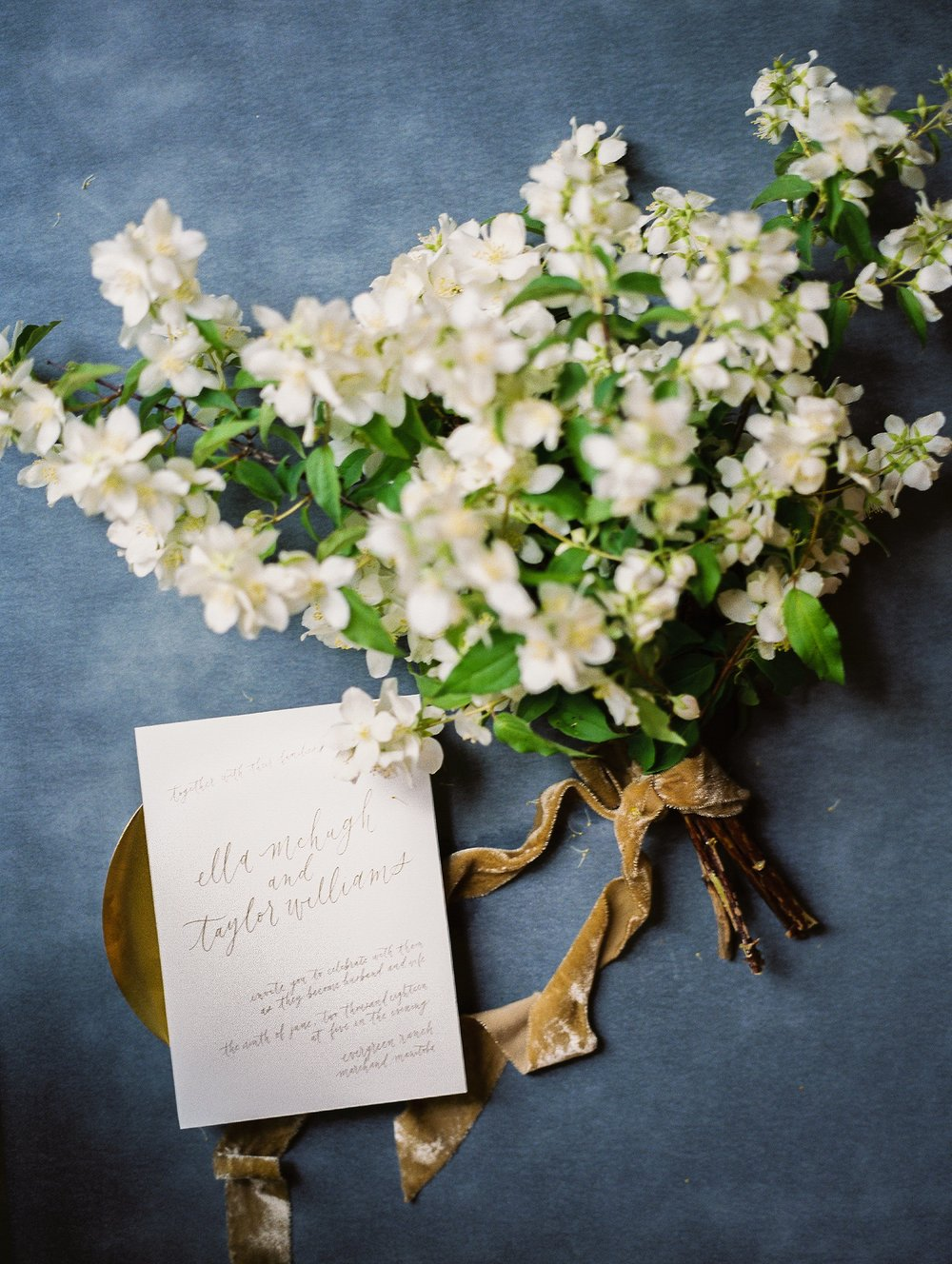 Floral bouquet by Heather Page and Calligraphy by Jennifer Bianca Calligraphy | wedding day detail photo | Toronto Wedding Photographer Keila Marie Photography