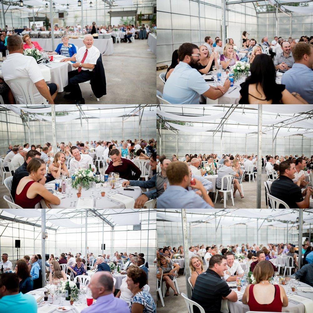 Greenhouse wedding reception |Keila Marie Photography | Manitoba Wedding Photographer