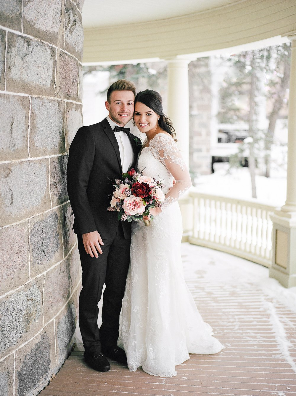 Classic Timeless Winter Wedding, Winter Wedding photo ideas, Winter wedding poses, Canadian Film Photographer, Classic Film Wedding Photography, Winnipeg Wedding Photographer, Keila Marie Photography