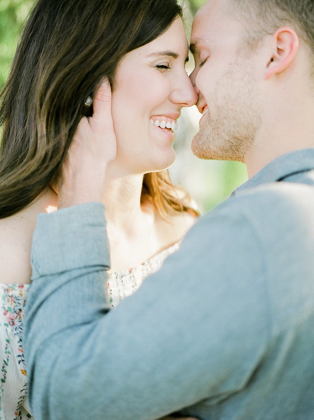 romantic engagement photos, intimate pose ideas engagement, canadian wedding photographer, film wedding photographer, golden hour engagement photos
