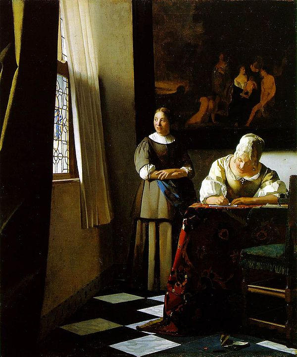 Johannes Vermeer, A Lady Writing A Letter, c. 1670-71, National Gallery of Ireland, Dublin
