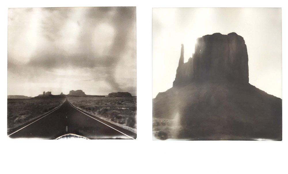 A couple of Polaroids.