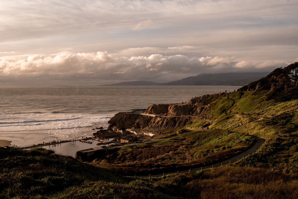 The ruins of Sutro Baths.