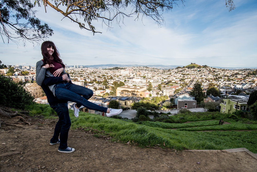 The Billy Goat Hill swing was cut down so I had to swing Charise around with my superhuman strength.