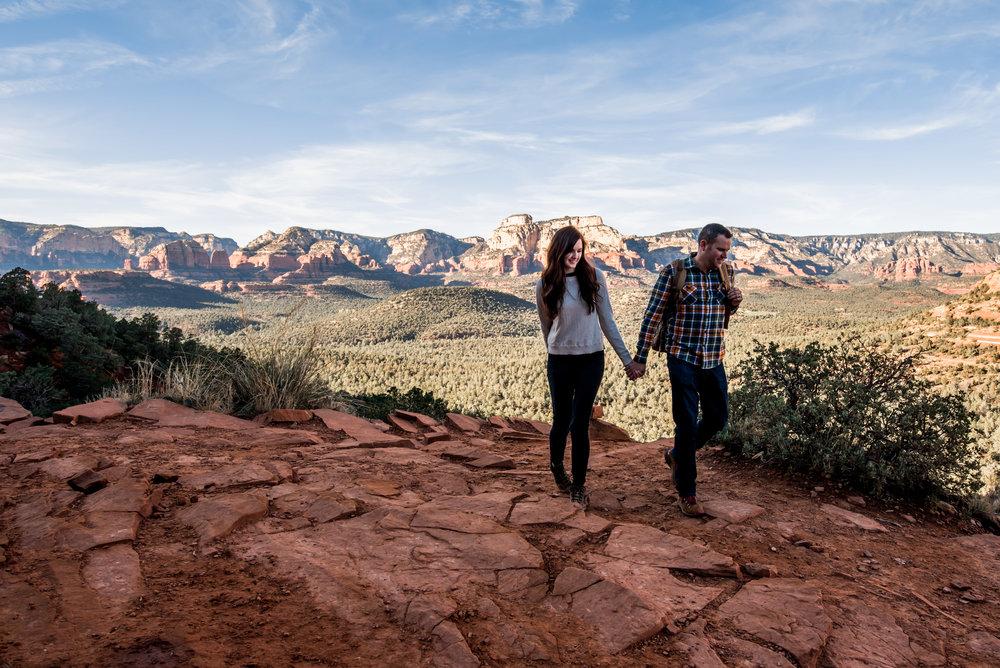 Me and Charise, hiking in Arizona.