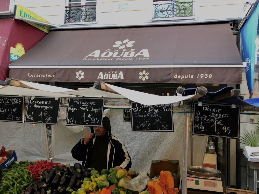 Our favorite coffee place was Cafe Aouba.They roast beans fresh every day. There was also a great market on the street out front.