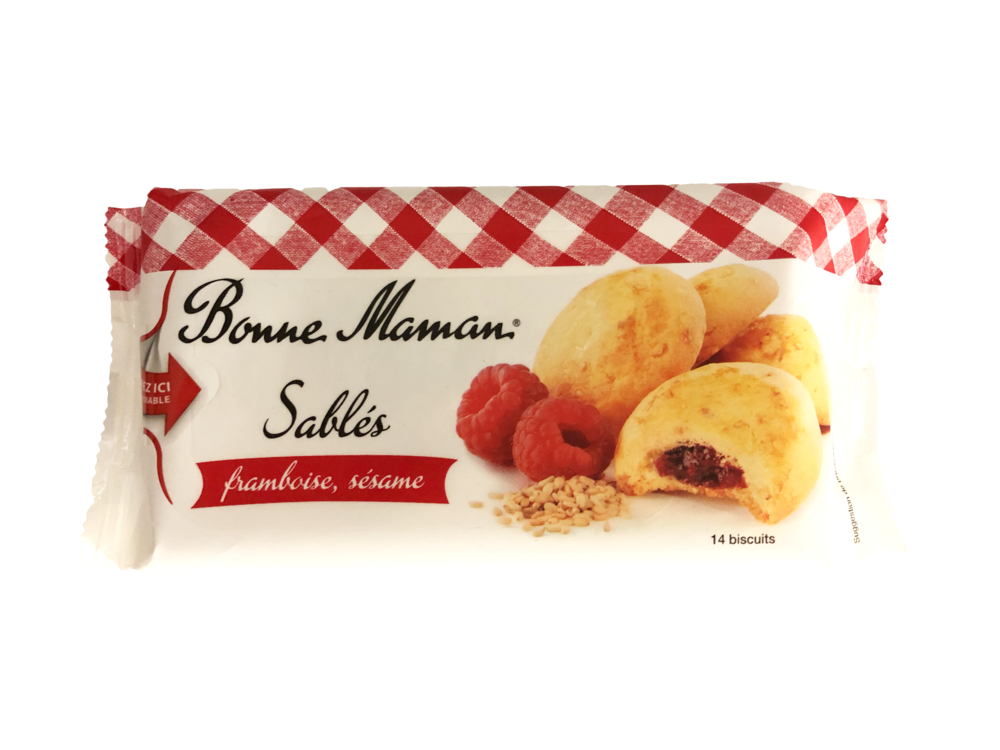 Still Good - There wasn't as much raspberry filling as in the picture, but this crunchy cookie was excellent. After the waffle cookies though we almost forgot about these.