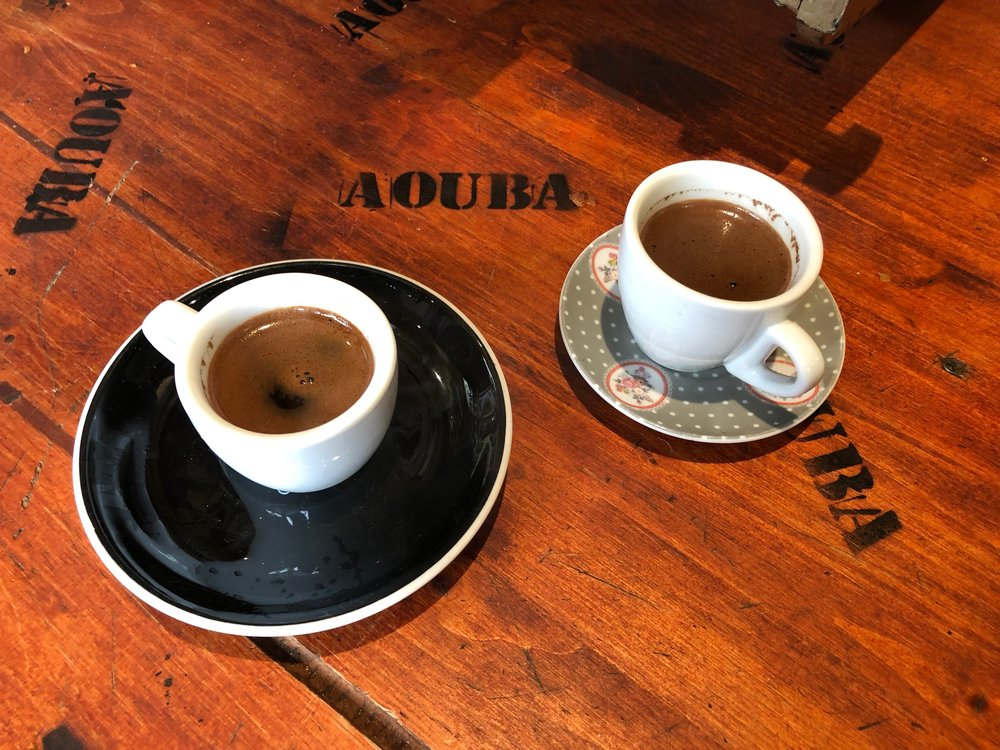 Traditional Turkish coffee.