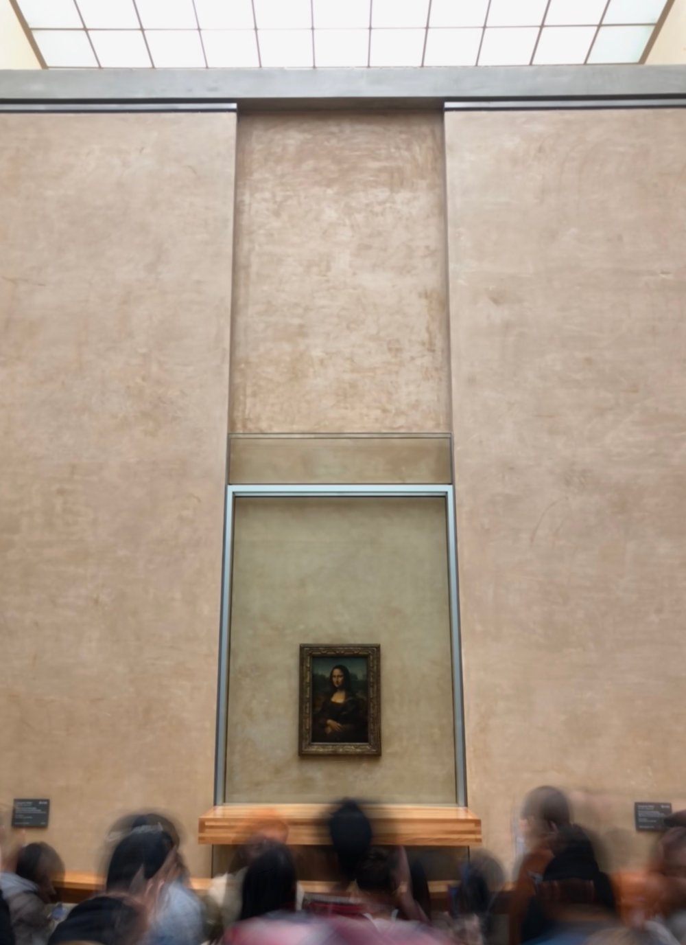No matter when you visit, there will be a crowd around the Mona Lisa.