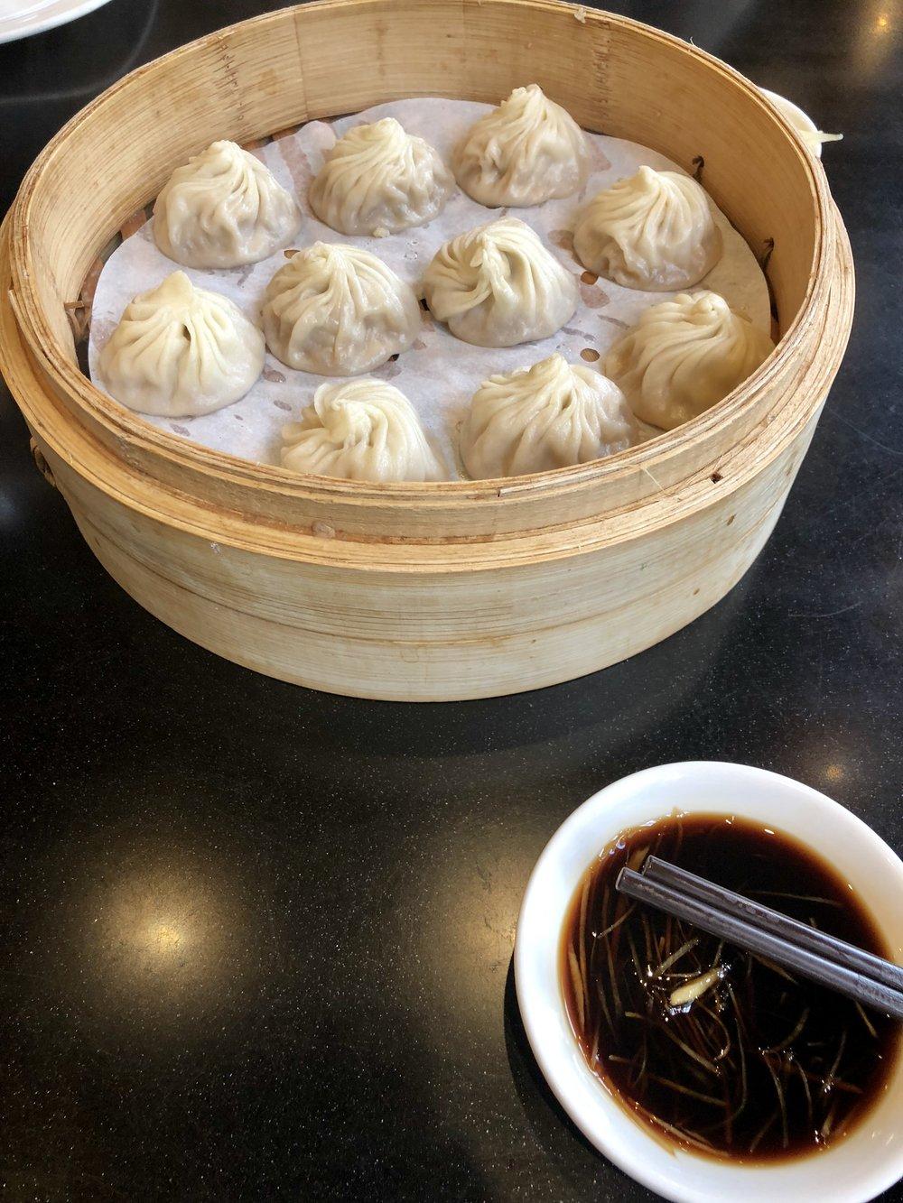 Soup dumpling were so good.