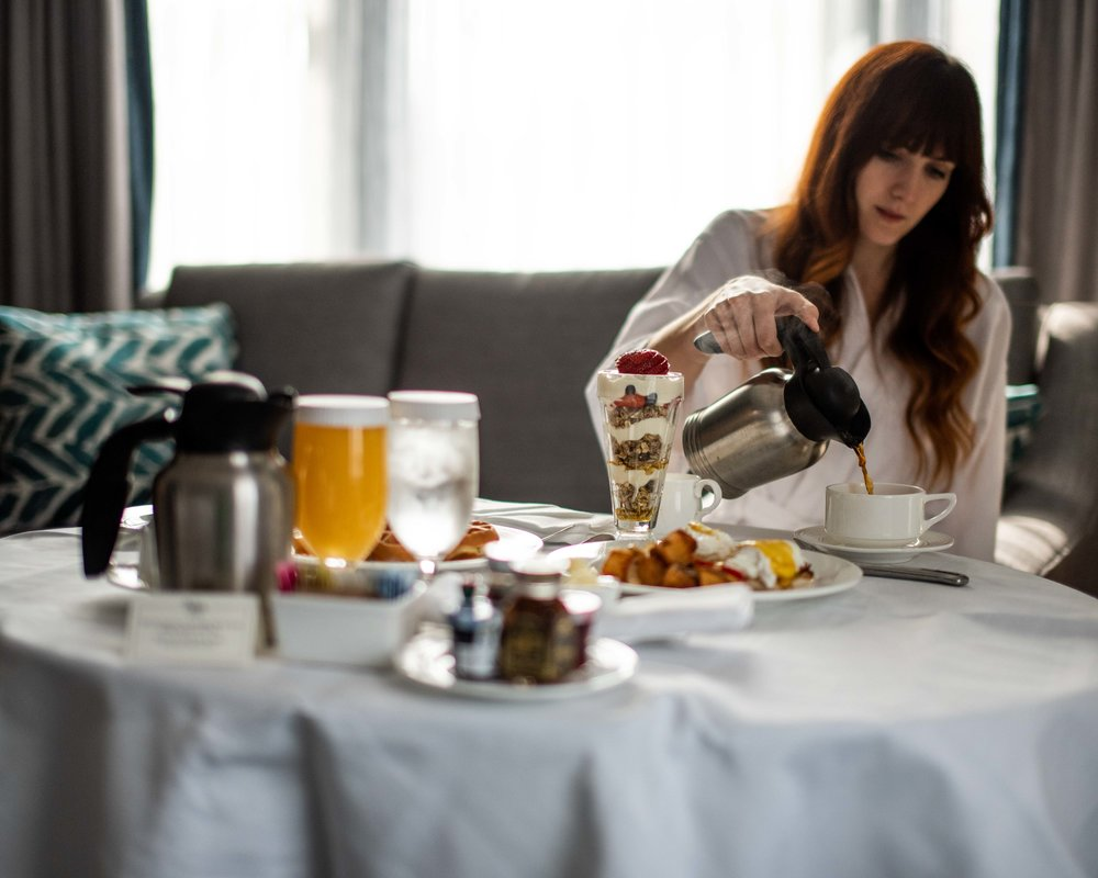 It's easy to get used to room service.