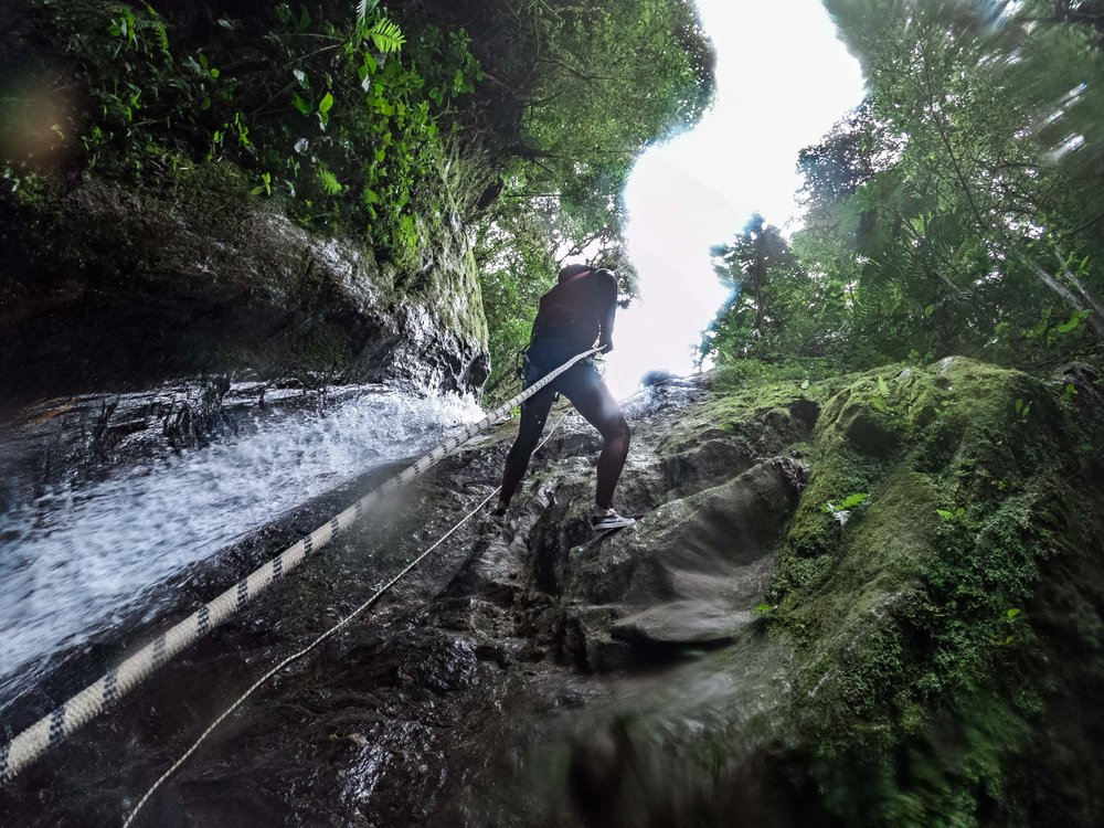 Canyoning was super fun!