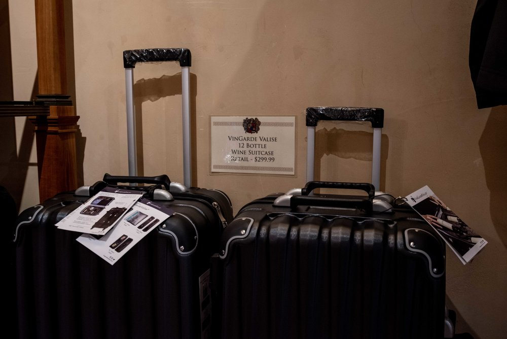 We should have bought one of these suitcases to bring home some wine.
