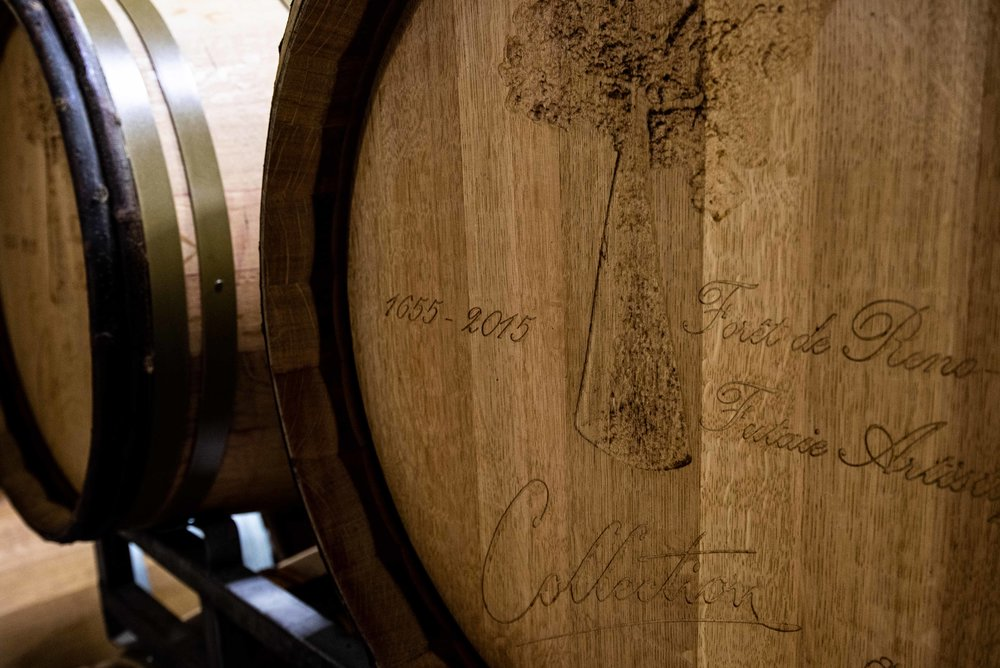 This barrel was made from a tree planted in 1655.