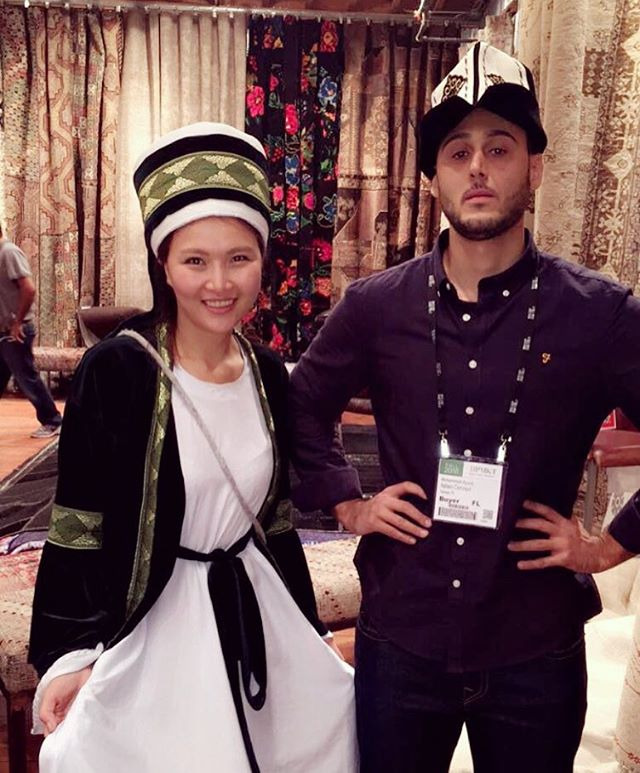 Modeling the latest in #Kyrgyz #fashion with our new friends from @italian_concept_usa 💁🏼 #hpmarket