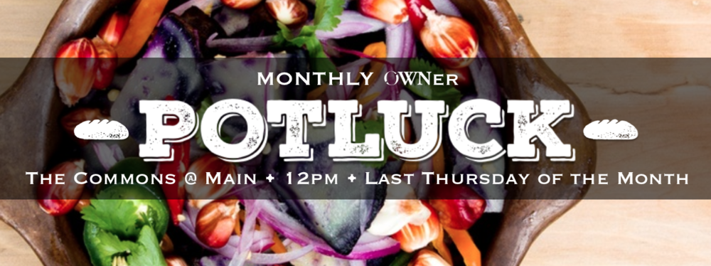 Stop by our location at 622 Main in Rapid City with something tasty that's home-cooked or store-bought with love! Potluck begins at 12pm and recurs monthly on the last Thursday.