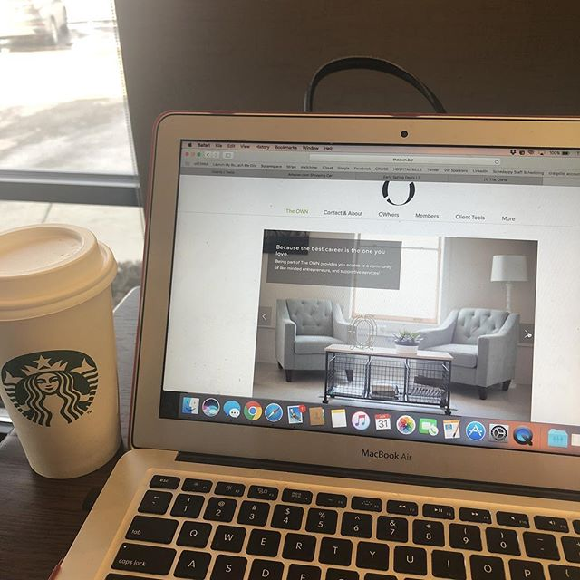 Waiting for my car at the shop, I love how I can just pack up my computer and work anywhere! #girlboss