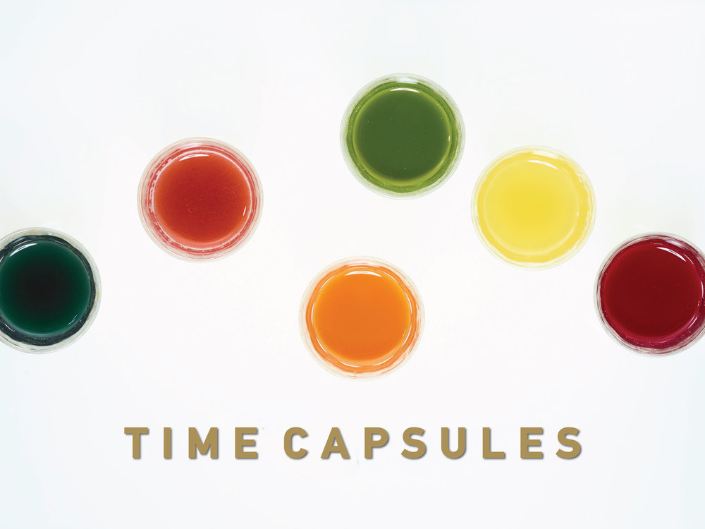 Time Machine Juice 2oz Time Capsule cold-pressed unpasteurized, raw juice cleanse made and delivered in Chicago, IL.