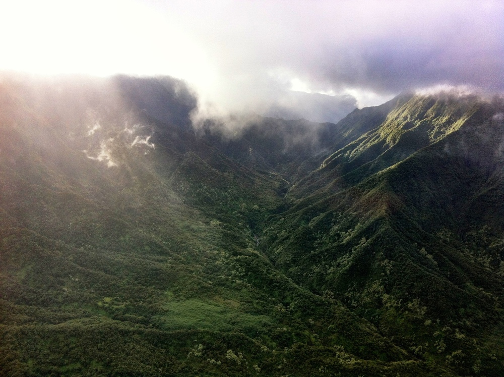 Olokui ridge on the island of Molokai